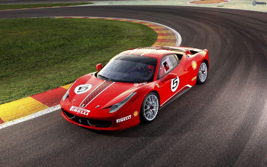 En los coches de carreras