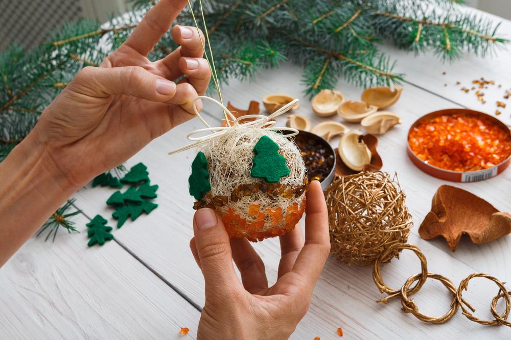 Decoraciones de navidad hechas a mano